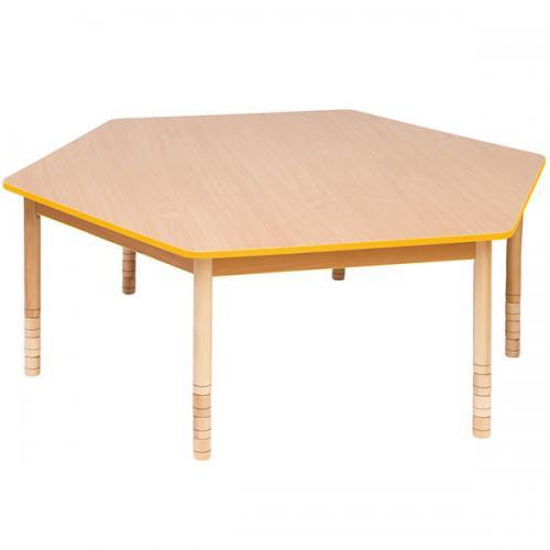 Stół drewniany sześciokątny