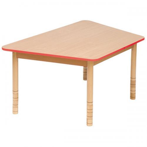 Stół drewniany trapezowy